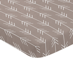 Stone and White Arrow Baby Fitted Mini Portable Crib Sheet for Outdoor Adventure Collection by Sweet Jojo Designs