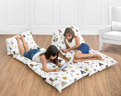 Outdoor Adventure Collection Kids Teen Floor Pillow Case Lounger Cushion Cover by Sweet Jojo Designs
