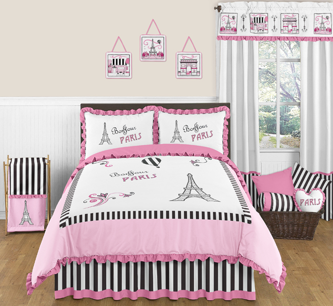 Paris 3pc Childrens and Teen Full / Queen Bedding Set by Sweet Jojo ...