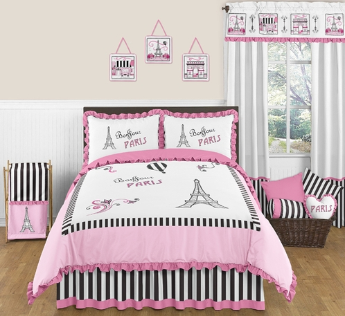 Paris 3pc Childrens And Teen Full Queen Bedding Set By