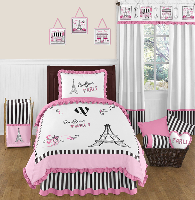 Paris 4pc Childrens And Kids Twin Bedding Set By Sweet Jojo Designs Only  $119.99