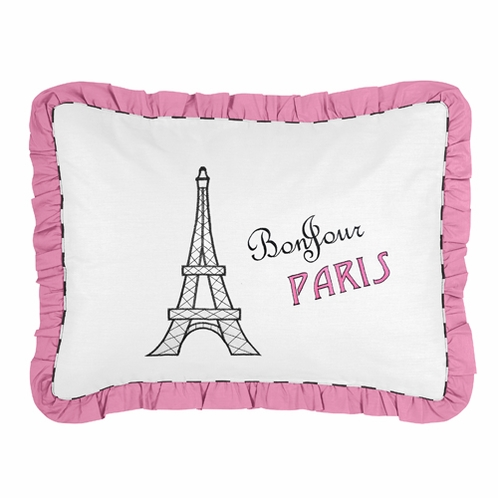Paris Pillow Sham by Sweet Jojo Designs - Click to enlarge