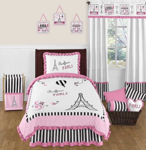 Paris 4pc Childrens And Kids Twin Bedding Set By Sweet Jojo Designs   Click  To Enlarge
