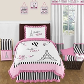 Paris 4pc Childrens and Kids Twin Bedding Set by Sweet Jojo Designs