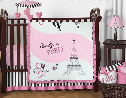 Paris Baby Bedding - 11pc Crib Set by Sweet Jojo Designs - Click to enlarge