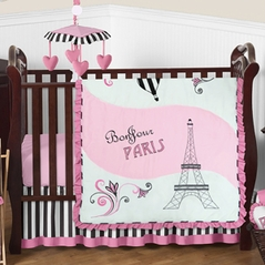 Paris Baby Bedding - 4pc Crib Set by Sweet Jojo Designs