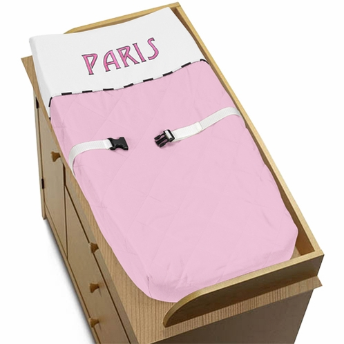 Paris Baby Changing Pad Cover by Sweet Jojo Designs - Click to enlarge