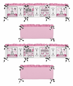 Paris Collection Crib Bumper by Sweet Jojo Designs