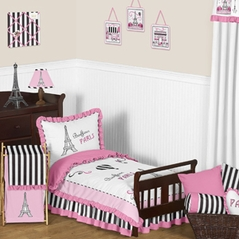 Paris Toddler Bedding - 5pc Set by Sweet Jojo Designs