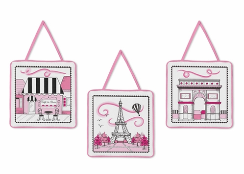 Paris Wall Hanging Accessories by Sweet Jojo Designs - Click to enlarge