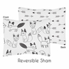 Pillow Sham for Sweet Jojo Designs Black and White Fox and Arrow Collection