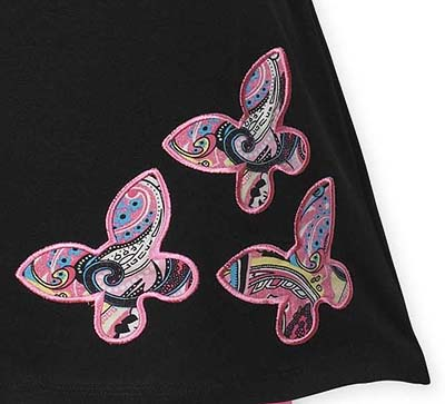 6be22086a Pink and Black Butterfly Baby Girls Infant 2pc Set or Dress by Sweet ...