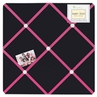 Pink and Black Hearts Fabric Memory/Memo Photo Bulletin Board