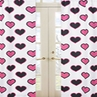 Pink and Black Hearts Print Window Treatment Panels - Set of 2