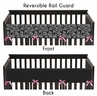Pink and Black Madison Baby Crib Long Rail Guard Cover by Sweet Jojo Designs