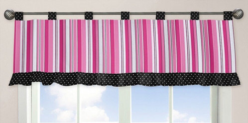 Pink and Black Madison Window Valance by Sweet Jojo Designs - Click to enlarge