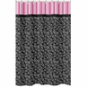 Pink and Black Madison Kids Bathroom Fabric Bath Shower Curtain