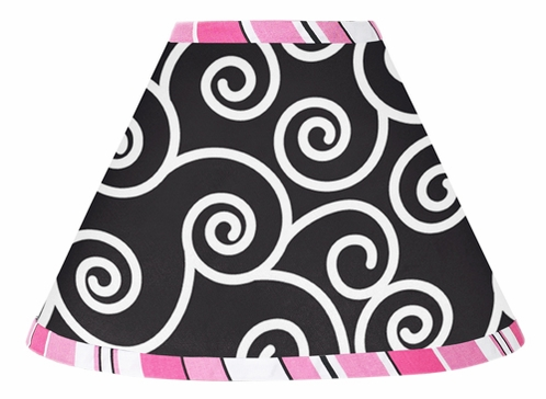 Pink and Black Madison Lamp Shade by Sweet Jojo Designs - Click to enlarge