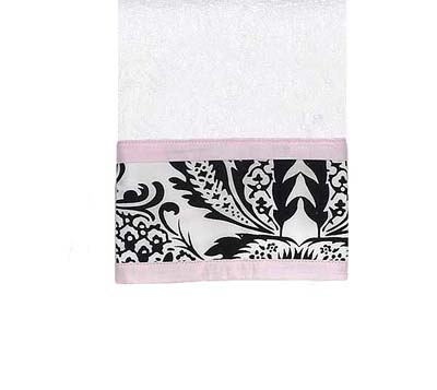 Pink and Black Sophia Cotton Wash Cloth - Click to enlarge