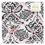Pink and Black Sophia Fabric Memory/Memo Photo Bulletin Board