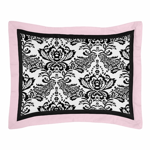 Pink and Black Sophia Pillow Sham - Click to enlarge