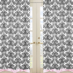 Pink and Black Sophia Window Treatment Panels - Set of 2