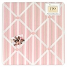 Pink and Brown Argyle Fabric Memory/Memo Photo Bulletin Board
