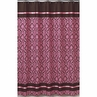 Pink and Brown Bella Kids Bathroom Fabric Bath Shower Curtain
