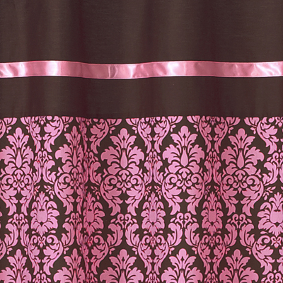 Pink And Brown Bella Kids Bathroom Fabric Bath Shower Curtain Only 2599