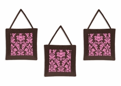 Pink and Brown Bella Wall Hanging Accessories by Sweet Jojo Designs