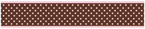 Pink and Brown French Toile and Polka Dot Girls Baby and Kids Wall Border by Sweet Jojo Designs - Click to enlarge