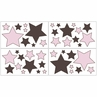 Pink and Brown Hotel Baby and Childrens Modern Wall Decal Stickers - Set of 4 Sheets