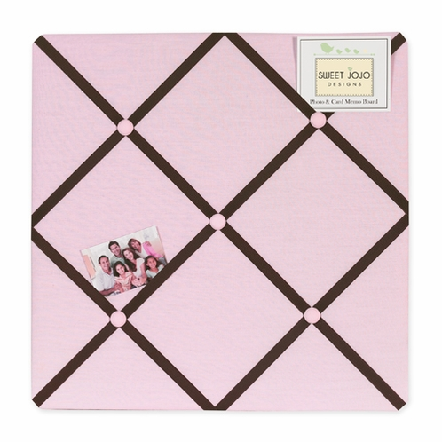 Pink and Brown Hotel Fabric Memory/Memo Photo Bulletin Board - Click to enlarge