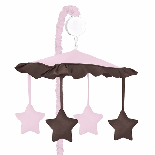 Pink and Brown Hotel Musical Baby Crib Mobile by Sweet Jojo Designs - Click to enlarge