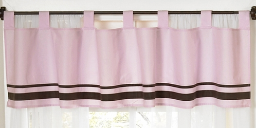 Pink and Brown Hotel Window Valance by Sweet Jojo Designs - Click to enlarge