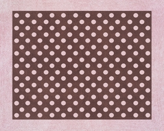 Pink and Brown Mini Polka Dot Accent Floor Rug