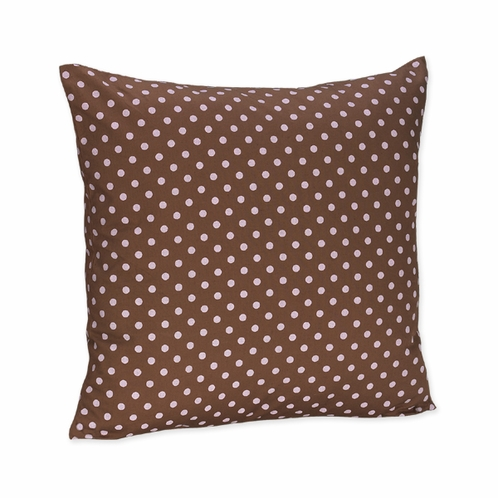 Pink and Brown Mini Polka Dots Accent Throw Pillow - Click to enlarge