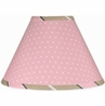 Pink and Brown Mod Dots Lamp Shade by Sweet Jojo Designs