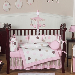 Lace Satin And Tulle Baby Bedding