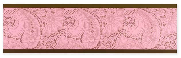 Pink And Brown Paisley Baby Childrens Teens Wall Border By Sweet Jojo Designs Only 1799