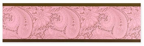 Pink and Brown Paisley Baby, Childrens and Teens Wall Border by Sweet Jojo Designs - Click to enlarge