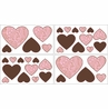 Pink and Brown Paisley Baby, Childrens and Teens Wall Decal Stickers - Set of 4 Sheets