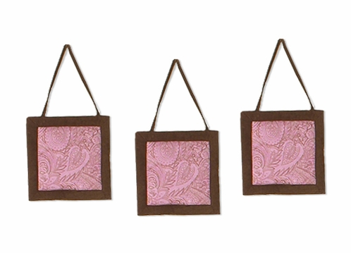 Pink and Brown Paisley Girls Wall Hangings - Click to enlarge