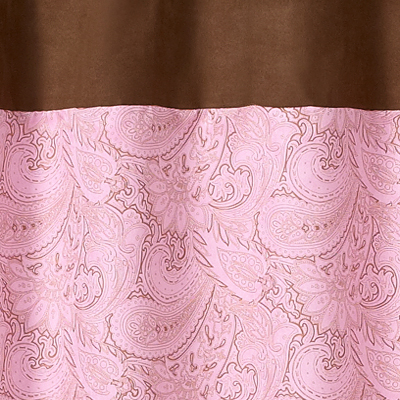 Superb Pink And Brown Paisley Kids Bathroom Fabric Bath Shower Curtain Only $22.99