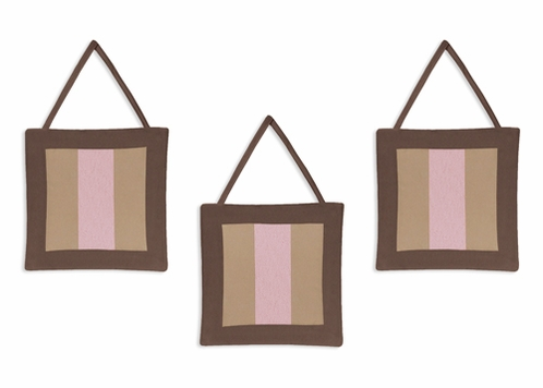Pink and Brown Soho Wall Hanging Accessories by Sweet Jojo Designs - Click to enlarge