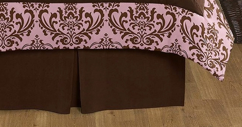 Chocolate Brown Nicole Queen Bed Skirt for Childrens Teens Bedding Sets by Sweet Jojo Designs - Click to enlarge