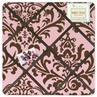 Pink and Chocolate Nicole Fabric Memory/Memo Photo Bulletin Board by Sweet Jojo Designs
