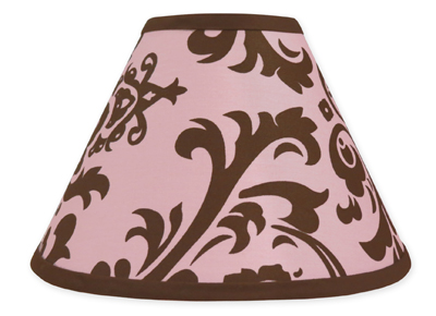 Pink and chocolate nicole lamp shade by sweet jojo designs only 799 mozeypictures Images