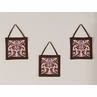 Pink and Chocolate Nicole Wall Hanging Accessories by Sweet Jojo Designs