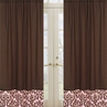 Pink and Chocolate Nicole Window Treatment Panels by Sweet Jojo Designs - Set of 2